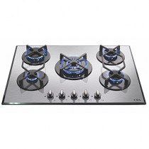CDA Five Burner Stainless Steel Gas On Glass Hob