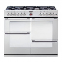 Stoves Sterling 1000DFT Stainless Steel 100 Dual Fuel Range Cooker