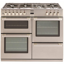 Belling DB4 100cm Dual Fuel  Professional Stainless Steel Range Cooker