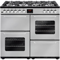 New World 444444202 Traditional 100DF Silver Dual Fuel Range Cooker