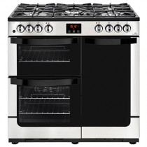 New World 444444204 Vision 90DF Stainless Steel Dual Fuel Range Cooker