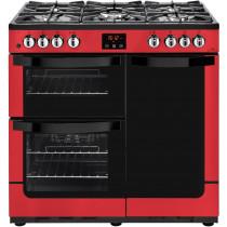 New World 444444205 Vision 90DF Red Range Cooker