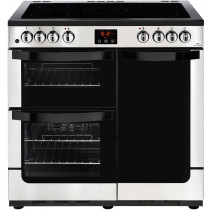 New World 444444207 Vision 90E Stainless Steel Electric Range Cooker
