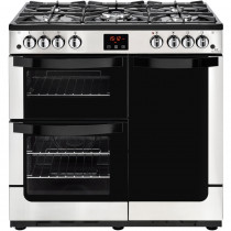 New World 444444210 Vision 90G Stainless Steel Gas Range Cooker