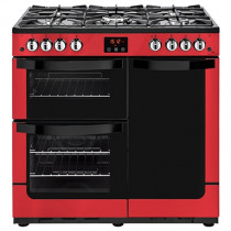 New World 444444211 Vision 90G Red Gas Range Cooker