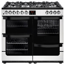 New World 444444212 Vision 100DF Stainless Steel Dual Fuel Range Cooker