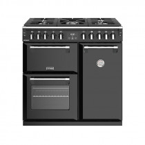 Stoves Richmond S900DF Dual Fuel Black 90 Range Cooker 444444435