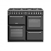 Stoves Richmond S1000DF Dual Fuel Black 100 Range Cooker 444444451