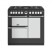 Stoves Sterling S900DF Dual Fuel Black 90 Range Cooker 444444481