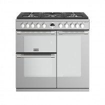Stoves Sterling S900DF Dual Fuel Stainless Steel 90 Range Cooker 444444482