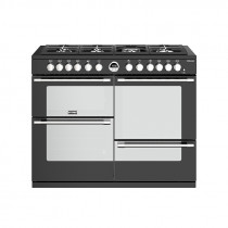 Stoves Sterling S1100DF Dual Fuel Black 110 Range Cooker 444444501