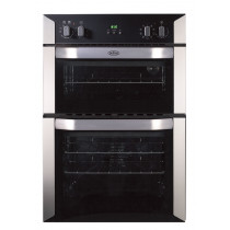 Belling BI90MF Built-In 90 Stainless Steel Double Oven
