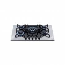 CDA 70 Four Burner Gas Hob Q Style Black 4Q5SS