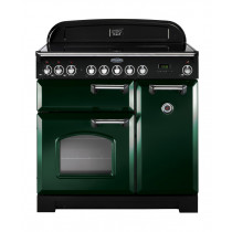 Rangemaster Classic Deluxe 90 Induction Racing Green/Chrome Trim Range Cooker CDL90EIRG/C 113690