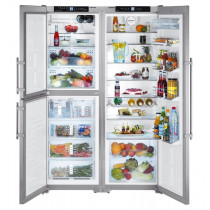 Liebherr SBSes7353 Side by Side Stainless Steel Food Centre Fridge Freezer