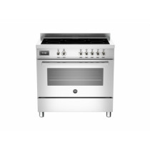 Bertazzoni Professional 90 Single Oven Induction Stainless Steel Range Cooker PRO90-5I-MFE-S-XT
