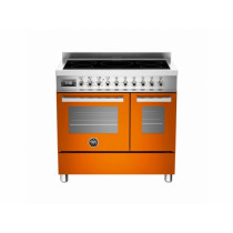 Bertazzoni Professional 90 Double Oven Induction Orange Range Cooker PRO90-5I-MFE-D-ART