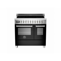 Bertazzoni Professional 90 Double Oven Induction Black Range Cooker PRO90-5I-MFE-D-NET