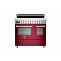 Bertazzoni Professional 90 Double Oven Induction Burgundy Range Cooker PRO90-5I-MFE-D-VIT