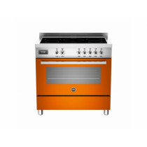 Bertazzoni Professional 90 Single Oven Induction Orange Range Cooker PRO90-5I-MFE-S-ART