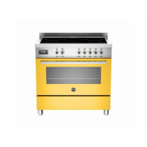 Bertazzoni Professional 90 Single Oven Induction Yellow Range Cooker PRO90-5I-MFE-S-GIT