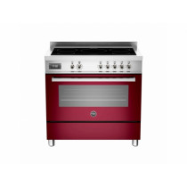 Bertazzoni Professional 90 Single Oven Induction Burgundy Range Cooker PRO90-5I-MFE-S-VIT