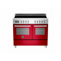 Bertazzoni Professional 100 Double Oven Induction Red Range Cooker PRO100-5I-MFE-D-ROT