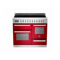 Bertazzoni Professional 100 Triple Cavity Induction Red Range Cooker PRO100-5I-MFE-T-ROT
