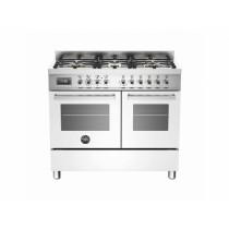 Bertazzoni Professional 100 Double Oven Dual Fuel White Range Cooker PRO100-6-MFE-D-BIT