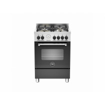 Bertazzoni Master 60 Single Oven Dual Fuel Matt Black Range Cooker MAS60-4-MFE-S-NEE