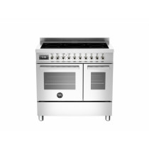 Bertazzoni Professional 90 Double Oven Induction Stainless Steel Range Cooker PRO90-5I-MFE-D-XT