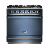Falcon 900S Dual Fuel China Blue Range Cooker with Matt Pan Supports