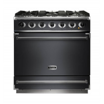 Falcon 900S Dual Fuel Slate Range Cooker with Matt Pan Supports