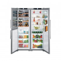 Liebherr SBSES7165 Side by Side Stainless Steel Food Centre Fridge Freezer