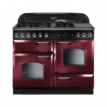 Rangemaster Classic 110 Natural Gas Range Cooker Cranberry/Chrome 84720