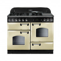 Rangemaster Classic 110 Natural Gas Range Cooker Cream/Chrome 73660