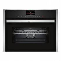 Neff N90 Pyrolytic Compact 45cm Oven with Microwave C27MS22N0B