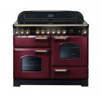 Rangemaster Classic Deluxe 110 Ceramic Range Cooker Cranberry/Brass 84450
