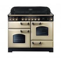Rangemaster Classic Deluxe 110 Ceramic Range Cooker Cream/Brass 81350