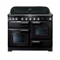 Rangemaster Classic Deluxe 110 Ceramic Range Cooker Black/Chrome 813212
