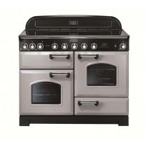 Rangemaster Classic Deluxe 110 Ceramic Range Cooker Royal Pearl/Chrome Trim CDL110ECRP/C 100660
