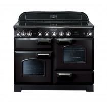 Rangemaster Classic Deluxe 110 Induction Range Cooker Black/Chrome 90380