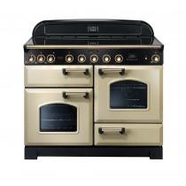 Rangemaster Classic Deluxe 110 Induction Range Cooker Cream/Brass 90440