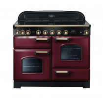 Rangemaster Classic Deluxe 110 Induction Range Cooker Cranberry/Brass Trim CDL110EICY/B 90450