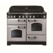 Rangemaster Classic Deluxe 110 Induction Range Cooker Royal Pearl/Chrome