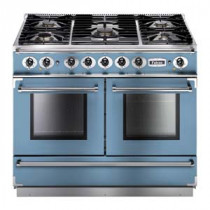 Falcon Continental 1092 Dual Fuel China Blue Range Cooker with Matt Pan Supports