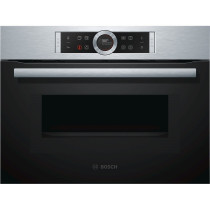 Bosch CMG633BS1B Brushed Steel Compact Oven with Microwave