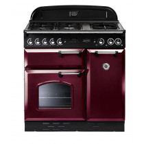Rangemaster Classic 90 Natural Gas Cranberry/Chrome Range Cooker 85010