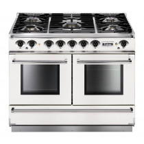 Falcon Continental 1092 Dual Fuel White Range Cooker with Matt Pan Supports