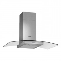 Neff 90 Stainless Steel Chimney Hood with Glass Canopy Sides